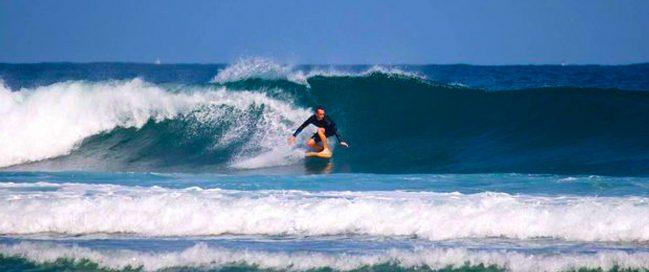 Water surfing in Fulong Beach, Taiwan