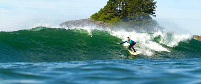 Water surfing in Tofino, Canada
