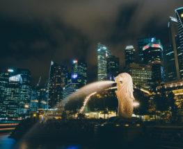 الليل في سنغافورة