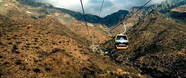 Ride the cable cars in Taif