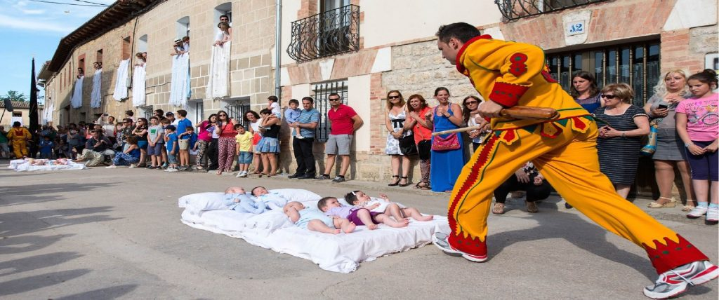 The baby jumping festival, Spain