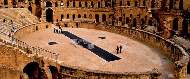 السياحة في تونس - مسرح قصر الجم الروماني