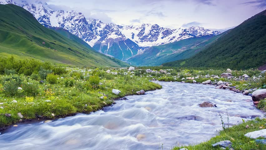 River flowing in Georgia