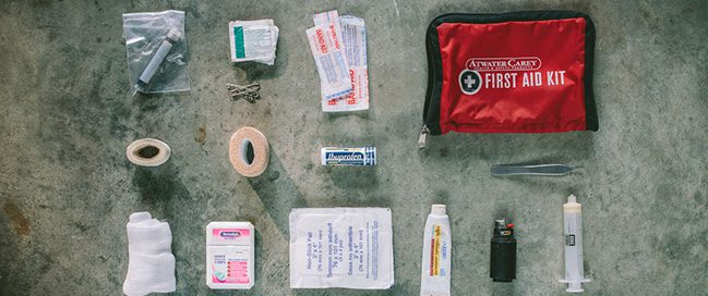 5- Pack a first aid kit