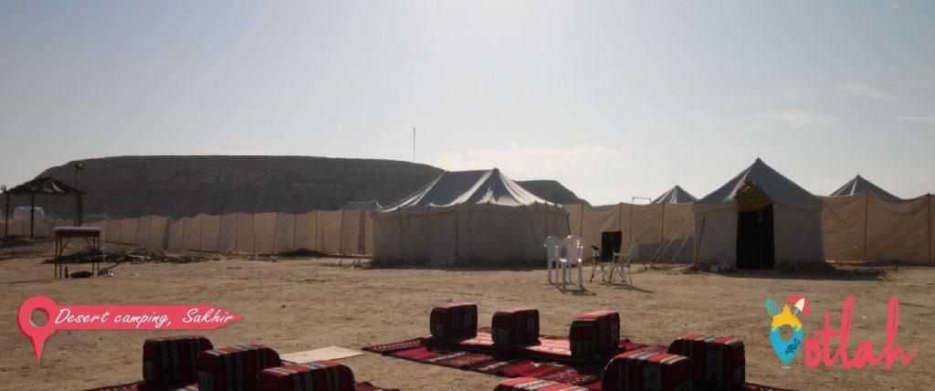 Desert camping in Sakhir