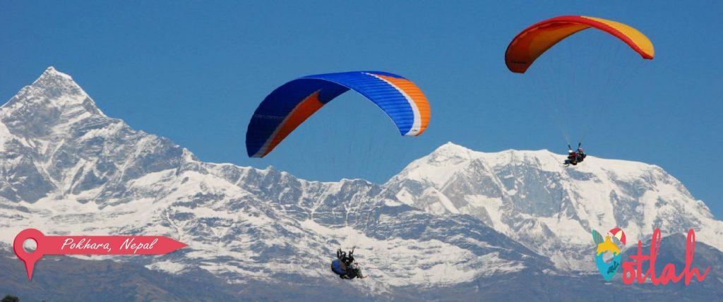 Paraglide over Pokhara