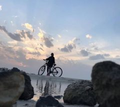 sunset view, cycling in Bahrain