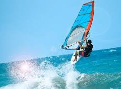 Windsurfing on the Greek Island of Naxos