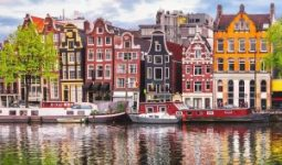 The beautiful houses design in Amsterdam