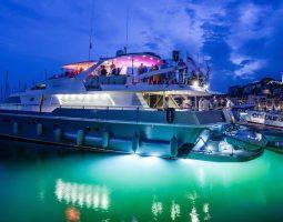 An overnight celebration on a yacht