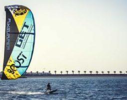 The kite surfing in Bahrain