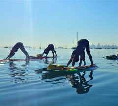 Stand Up Paddling Yoga