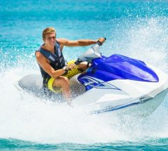 Full day of riding Jet Ski in the blue water of Bahrain