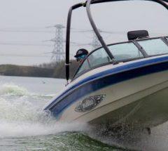Ski boat driving