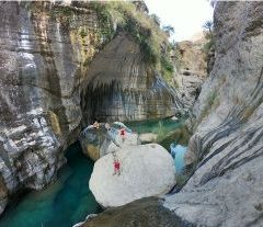 Snake gorge canyon in Oman