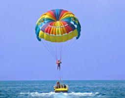 Single flyer parasailing