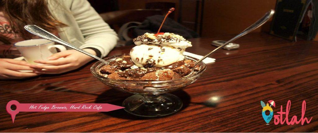 Hot Fudge Brownie at Hard Rock Cafe