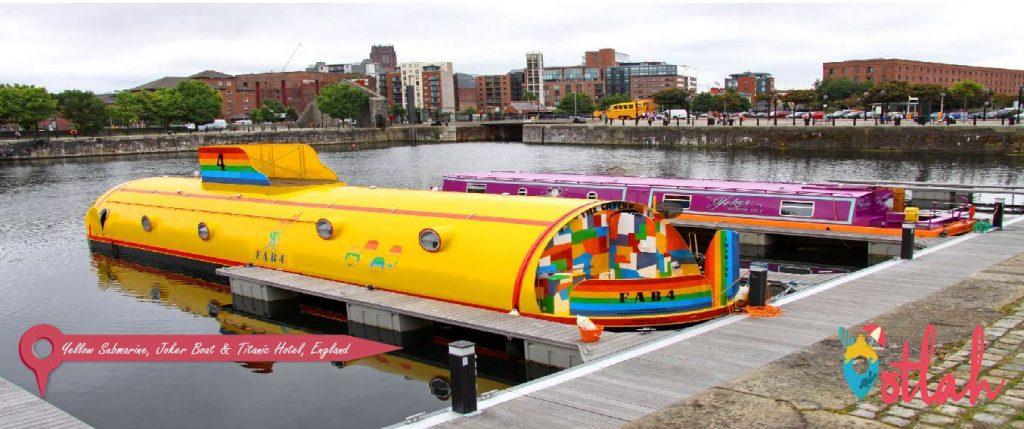 Yellow Submarine, Joker Boat & Titanic Hotel, England