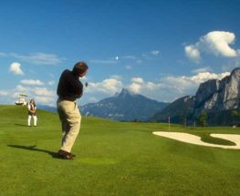 Practicing golf for 4 days in the fields of Austria