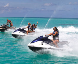 Enjoy riding the jet ski in Bahrain