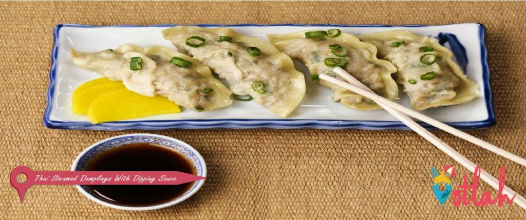 Thai Steamed Dumplings With Dipping Sauce