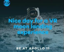 Live a moon landing experience with VR machines