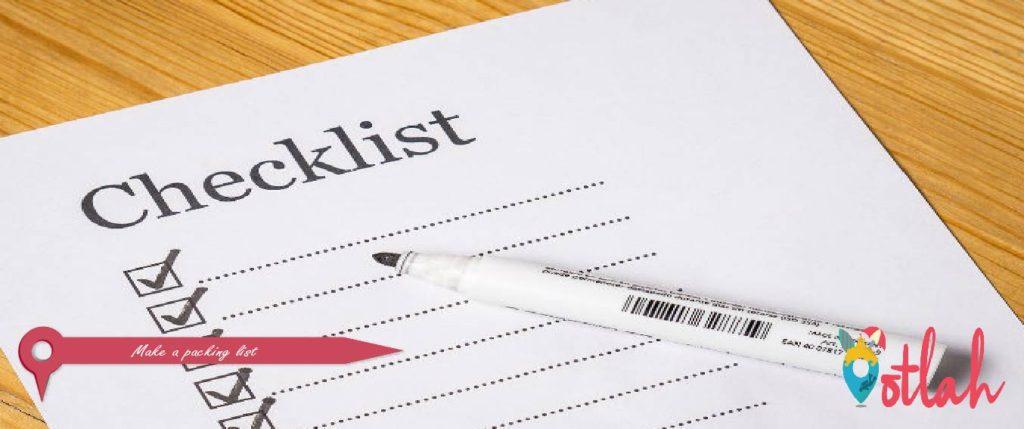 Make a packing list