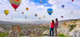 Enjoy valentine's day among the world-famous Cappadocian fairy chimneys