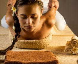 Thai massage with aroma oil