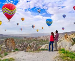 Enjoy valentine's day among the world-famous Cappadocian fairy chimneys