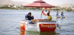 رحلة نيلية جميلة في قارب الدونتس