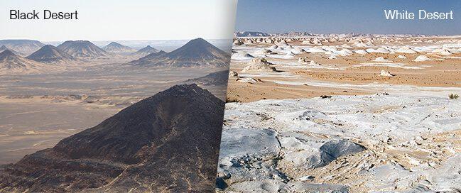 الصحراء البيضاء والصحراء السوداء