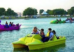 Enjoy paddle boating
