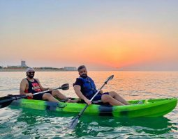 Double kayaks in Bahrain